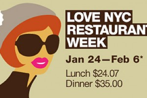 A table pour la «New York Restaurant week»