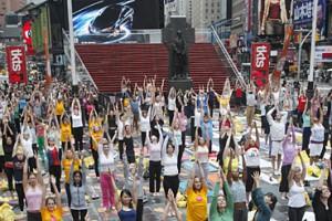 Du yoga en plein air à New York