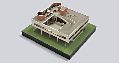 L'une des maquettes du Corbusier exposée au MoMA de New York. (Photo D.R.)