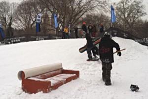 Les sports d'hiver envahissent Central Park