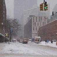 Météo à New York : la neige s'installe !