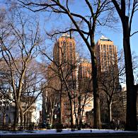 Météo à New York : neige et soleil !