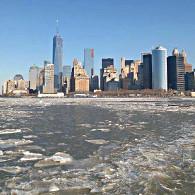 La skyline de New York dans les glaces le 9 janvier. (Photo Roseline) (Photo Roseline)