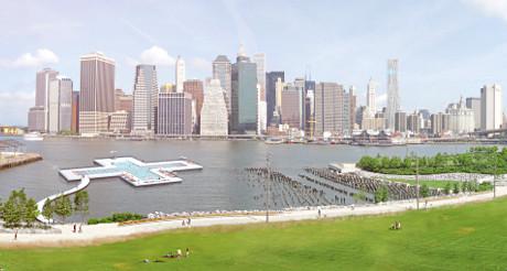 La piscine offrira une vue imprenable sur les buildings du Financial District. (Photo D.R.)