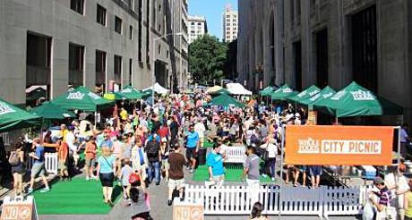 Les 2, 9 et 16 août, Park Avenue et Lafayette Street sont uniquement ouvertes aux piétons et aux cyclistes ! (Photo D.R.)