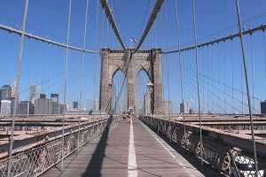 Le pont de Brooklyn (Brooklyn bridge)