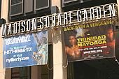 Le Madison Square Garden à l'angle de la 7th Avenue et de la 33rd Street.