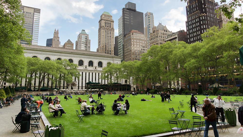 Bryant Park et la New York Public Library