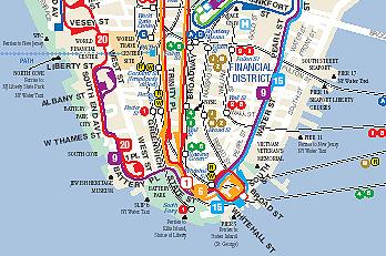 Plan Du Reseau De Bus A Manhattan