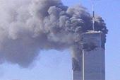 Les tours du World Trade Center en flammes, le 11 septembre 2001.