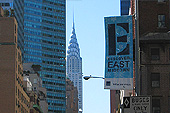 Le Chrysler building vu depuis Lexington Avenue.