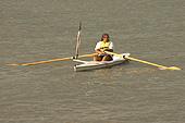 Un kayakiste sur l'Hudson.