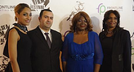 Ingrid Jean-Baptiste, la fondatrice du Chelsea Film Festival (à gauche).