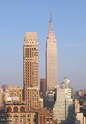 Immeubles avec vue plongeante sur l'Empire State building.