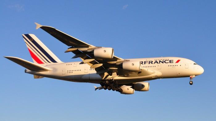 Un A380 d'Air France à l'atterrissage. (Photo Hussein Abdallah)