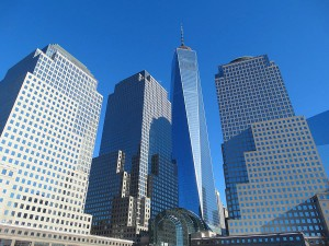 La One World Trade Center depuis la marina