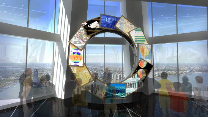 Vue d'artiste de l'observatoire de la tour One World Trade Center.