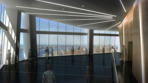Vue d'artiste de l'observatoire du One World Trade Center.