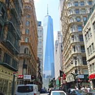 Le One World Trade Center de bas en haut ! (Photo Smain Stanley)