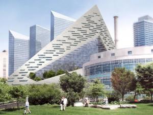 La pyramide new-yorkaise atteindra 137 mètres de haut.