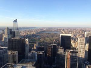 Vue sur Central Park depuis le Top of the Rock. (Photo Rosie Nisbet)
