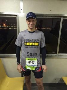 Sean ce matin dans le ferry de Staten Island. En route pour le départ !