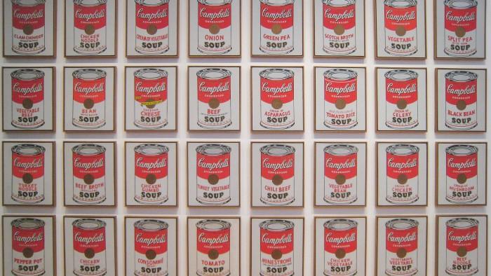 Une série de soupes Campbell's au MoMA. (Photo Sharon Mollerus)