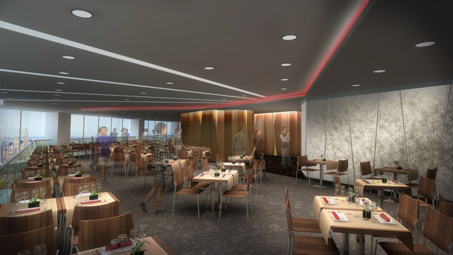Le restaurant du one world trade center sous les critiques for Interieur world trade center