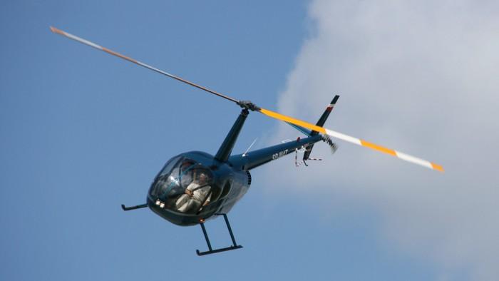Le Robinson R44 Raven II en vol. (Photo DR)
