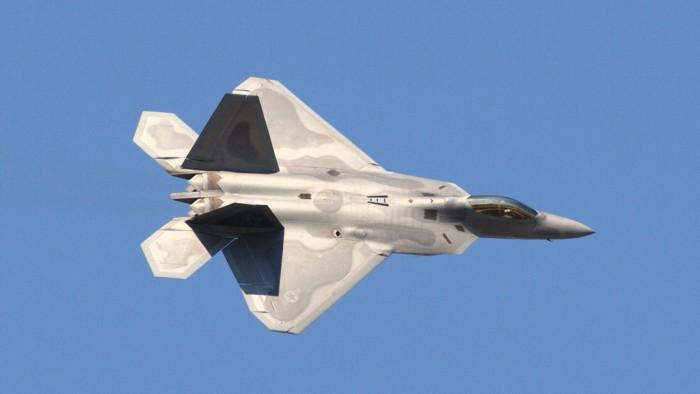 Un F-22 Raptor saisi au vol. (Photo  Michael Pereckas)
