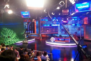 Un plateau de télévision. (Photo DR)