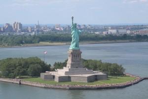 Coup d'oeil sur Miss Liberty. (Photo Didier Forray)