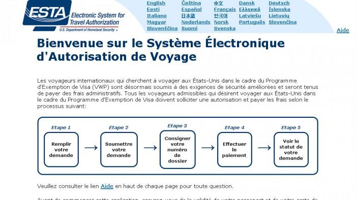 Le site du gouvernement américain est accessible en français.