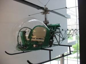 L'hélicoptère exposé au MoMA. (Photo Jennifer Boyer)