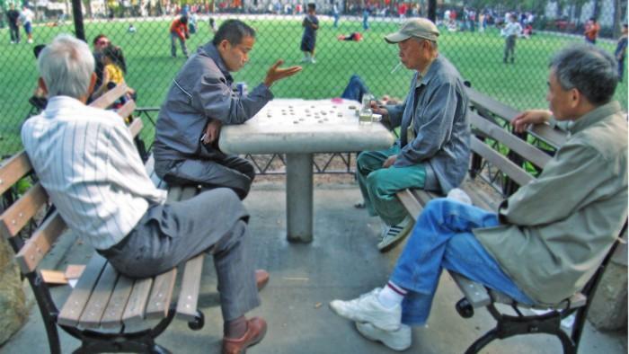 Détente dans Chinatown ! (Photo Mo Riza)
