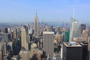 Vue sur l'Empire State building depuis le Top of the Rock. (Photo Didier Forray)