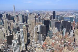 La vue sur Midtown depuis l'Empire State building. (Photo Didier Forray)