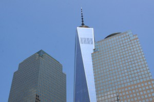 Au pied du World Trade Center. (Photo Didier Forray)