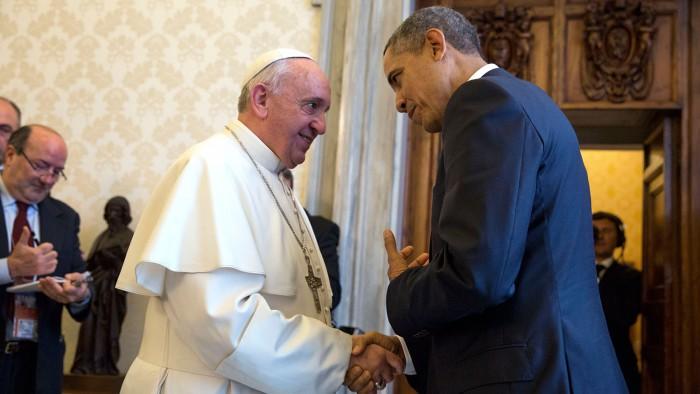 Le pape François et Barack Obama