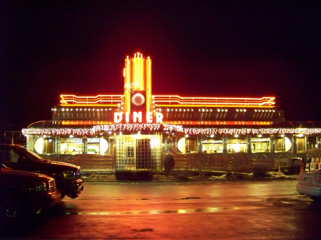 """Deco Annee 50 Americaine restaurants dans le quartier restaurants rétros (""""diners"""")"""