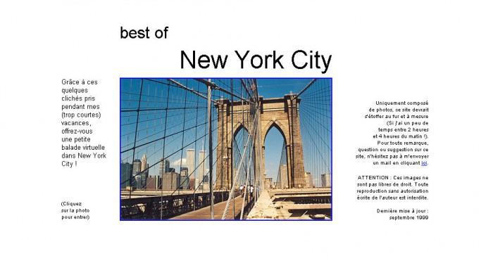 Voici à quoi ressemblait la toute première Home du site ©New York en 1999 !