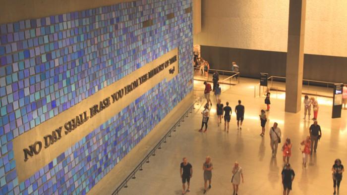 A l'intérieur du musée du 11 septembre 2001. (Photo Didier Forray)