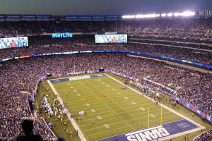 Voir un match de football américain à New York