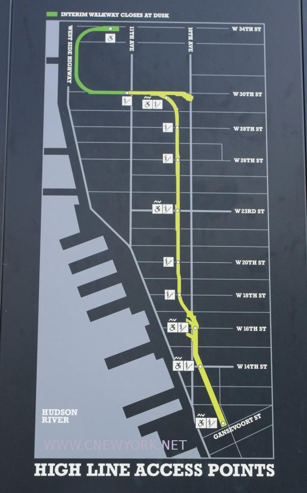 Plan de la High Line