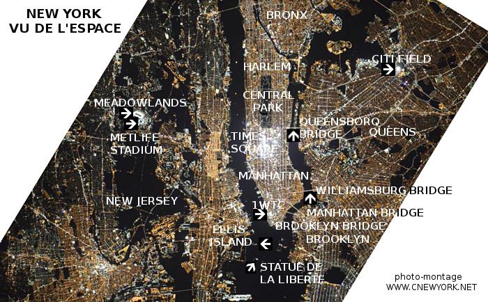 New York vu de l'espace, avec commentaires ;-)