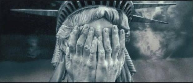 La statue de la Liberté en pleurs