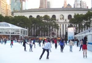 Elancez-vous sur la patinoire de Bryant Park !