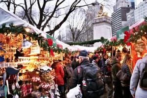 Un marché de Noël qui borde Central Park.