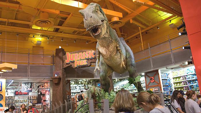 Le dinosaure de Jurassik Park sur Times Square. (Photo Alonso Javier Torres)