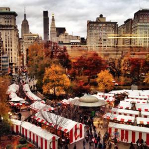 Le marché de Noël d'Union Square.